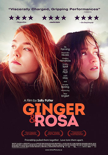 Ginger and Rosa Canadian Theatrical Poster